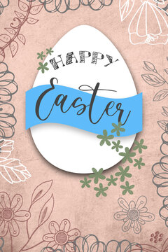 Easter Egg Greetings Card 4 x 6 inches