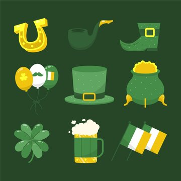 Hand Drawn St Patricks Day Elements Collection 2