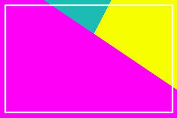 Fototapeta Trzy bardzo jasne kolorowe kartki w białej ramce