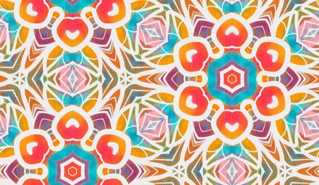 Seamless pattern with stylized ethnic pattern.
