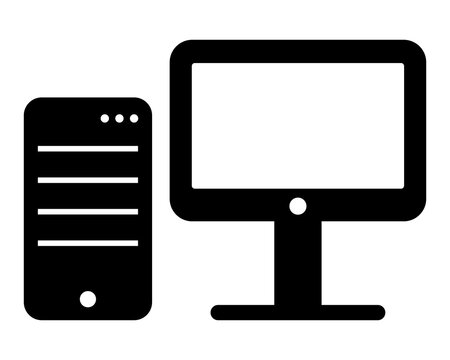 Personal computer. Vector icon. Pictogram illustration.