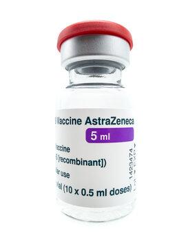 5ml Ampulle AstraZeneca Impfstoff gegen Covid-19