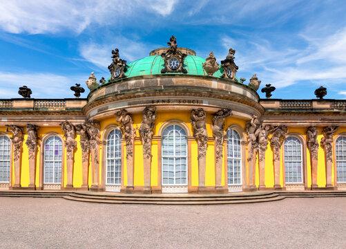 Famous Sanssouci palace in Potsdam, Germany