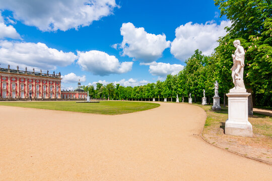 New Palace (Neues Palais) and Sanssouci park in spring, Potsdam, Germany