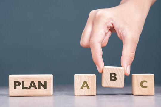 Pick the B Plan Wood Cube