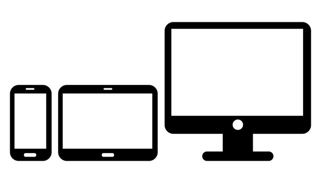 Devices Set. Smartphone. Tablet. Monitor PC. Vector Icons II.