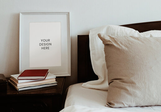 Frame Mockup by Bedside Table