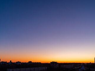 sunset over city, nice sunset sky