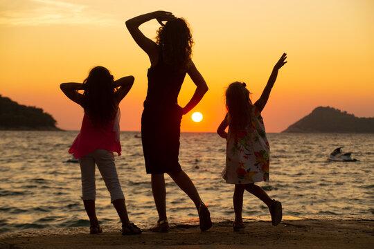 family on sea resort