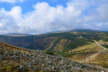 Fototapeta view from the hill obraz