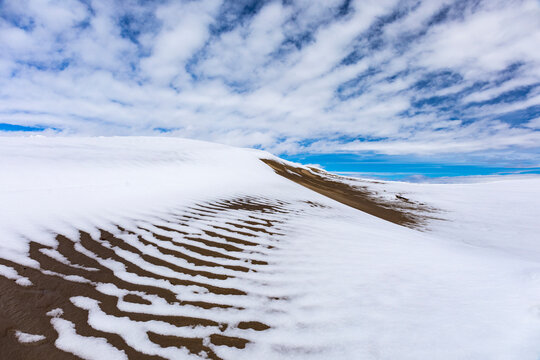 Snow Covered Dunes