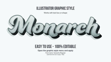Fototapeta White and Grey 3D Modern Cursive Bold for Display and Logos Editable Text Style