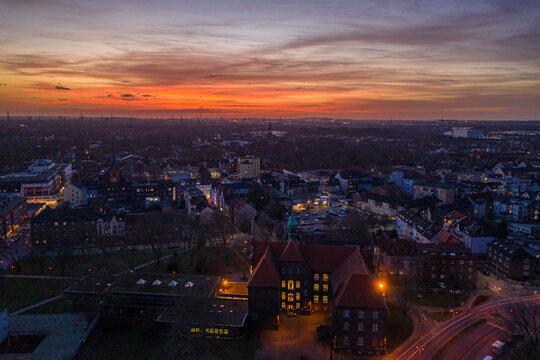 Sonnenuntergang im Ruhrpott