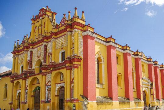 la catedral de San cristóbal de las casas, Chiapas, Mexico