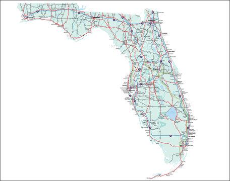 Florida State Interstate Map