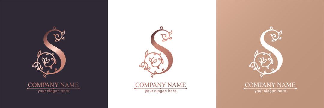 Premium Vector S logo. Monnogram, lettering. Personal logo or sign for branding an elite company.