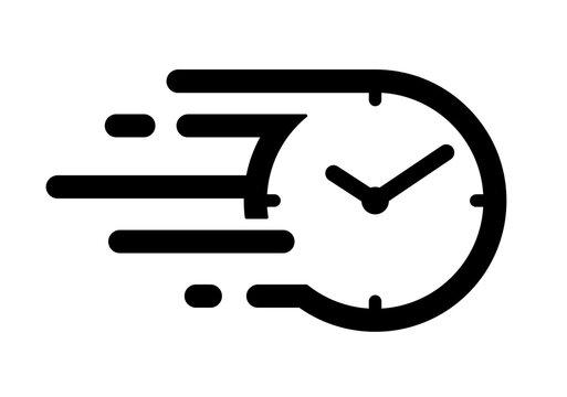 速い時間のアイコン スピードある時間の流れのアイコン