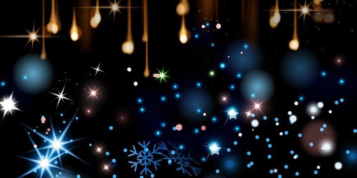 Magic Stars Stock Image Black Background
