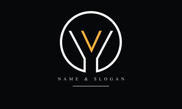 OY, YO, O, Y abstract letters logo monogram