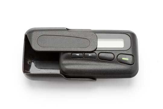 A pager or a beeper ,Pager can receive messages isolate on white background.