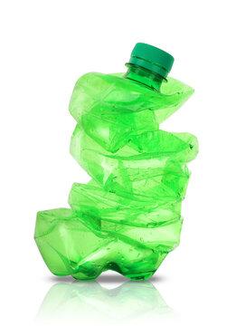 plastic crushed big bottle
