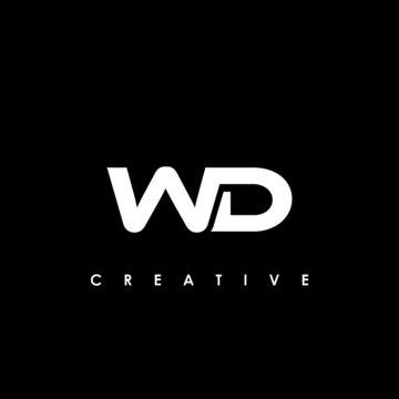 WD Letter Initial Logo Design Template Vector Illustration