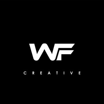 WF Letter Initial Logo Design Template Vector Illustration