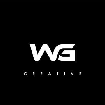 WG Letter Initial Logo Design Template Vector Illustration