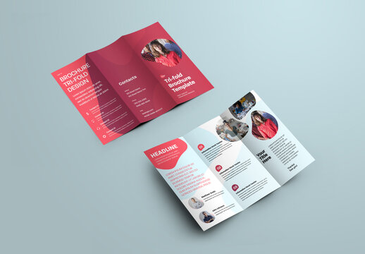 Colorful Modern Trifold Brochure with Bubble Shapes