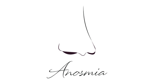 A nose representation for Anosmia Awareness day observed on 27th February.