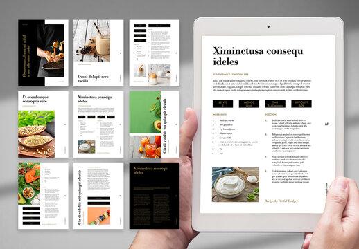 Clean Digital Restaurant Recipe Book Layout