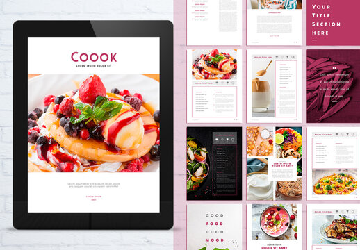 Modern Cook ebook Digital Layout