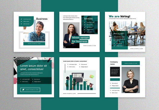 Green Social Media Layouts for Corporation