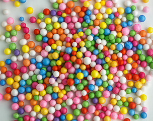 Colorful sugar balls. Abstract texture background.