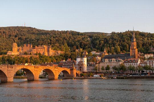 View over the Neckar to Heidelberg