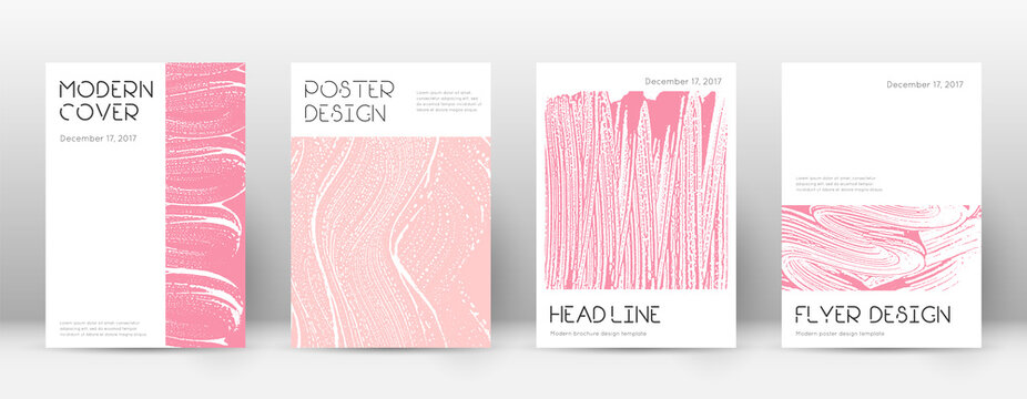 Cover page design template. Minimal brochure layout. Captivating trendy abstract cover page. Pink an