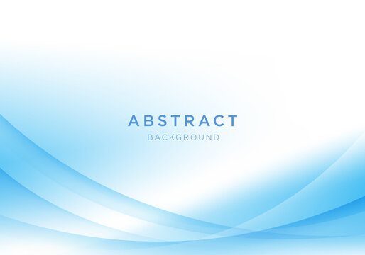 Abstract light vector background blue and white wave background.
