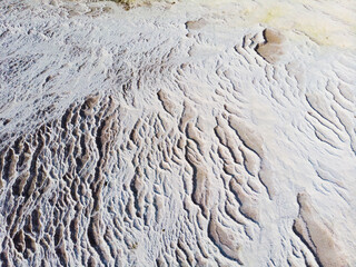Amazing landscape of Pamukkale thermal springs with cascade of white calcite terraced baths, Turkey Wall mural