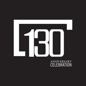 130 YEAR ANNIVERSARY CELEBRATION VECTOR DESIGN TEMPLATE ILLUSTRATION