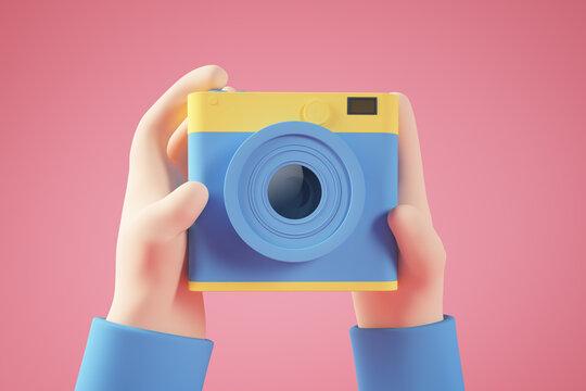 Minimal photo selfie concept