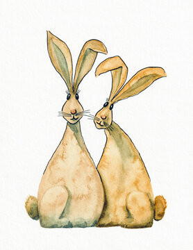 two sweet easter rabbits