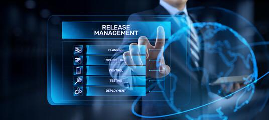 Fototapeta Release management software development and testing concept. obraz