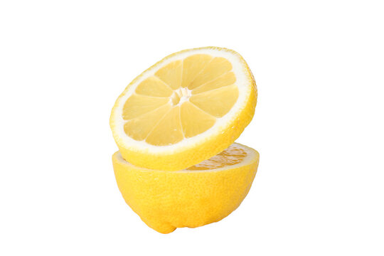 lemon cut isolated on a white background