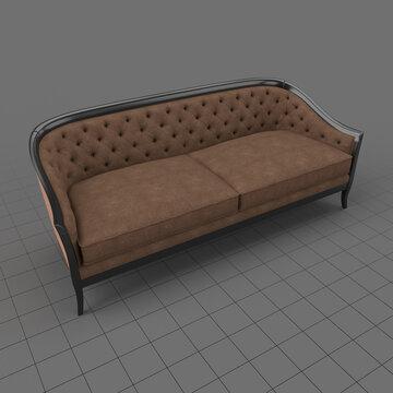Cabriole style sofa 1