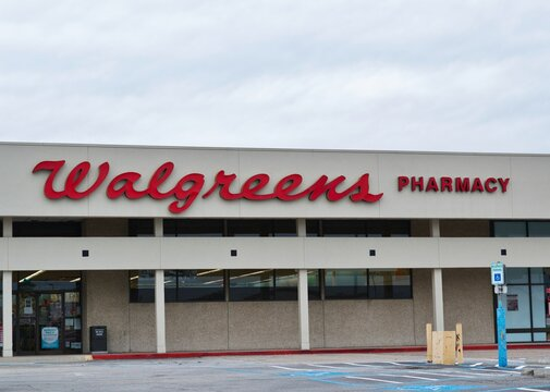 Humble, Texas USA 11-28-2019: A Walgreens Pharmacy outlet store in Humble, TX. Founded in 1901 Chicago Illinois it is the second largest US pharmacy store and can be found in all 50 states in the USA.