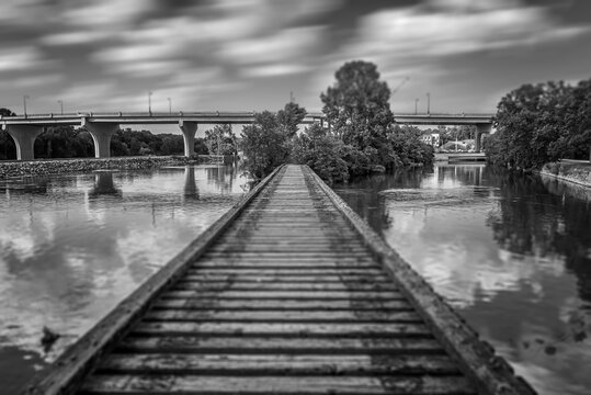 Trestle Bridge Over Fox River (Appleton, Wisconsin)