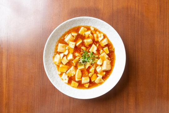 麻婆豆腐(真俯瞰やや引き)