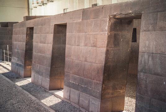Inca Chambers at Coricancha Sun Temple in Cuzco, Peru