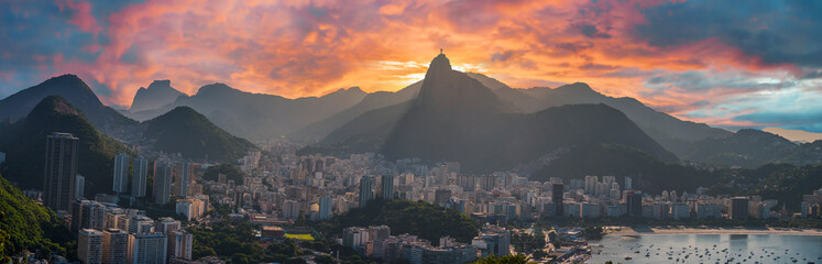 view from the sugarloaf mountain in Rio de Janeiro.