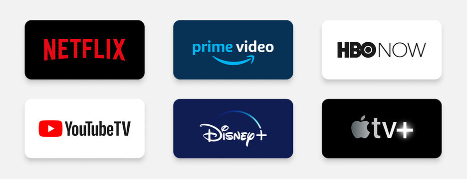 top ott platforms streaming service providers logos including netflix prime disney plus and more